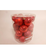 """Set of 26 Red Shatterproof 2.25"""" Christmas Tree Bulb Ornament Hanging NW - $22.95"""