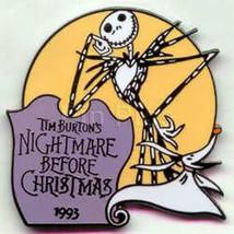 Jack Skellington dated 1993 Authentic Disney Pin in original Disney packing - $17.99