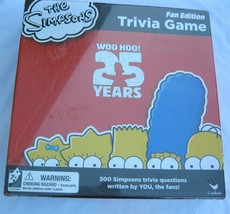 NIB Simpsons Trivia Game Fan Edition Board Game Factory Sealed 25 Year Edition - $28.50