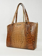 Brahmin Paris Large Leather Business Tote/Work Bag in Toasted Almond Melbourne - $359.00