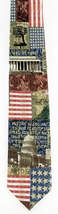 Let Freedom Ring Mens Necktie American Flag Patriotic Eagles Wings Neck ... - €21,99 EUR