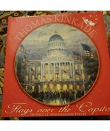 Jigsaw puzzle 2006 THOMAS KINKADE FLAGS OVER THE CAPITOL 750  PIECE comp... - $10.86