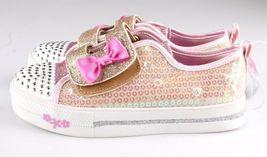 Toddler Girls' S Sport by Skechers Gold Crystal Stars Madelyne Light Up Sneakers image 4