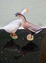 JAPAN Kaiyodo Furuta New Choco Egg Pet Animal Figures TWO 2 Swans Goose - $9.78