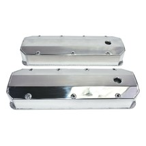BBC Fabricated Tall Aluminum Valve Covers Polished Big Block Chevy 396 427 454