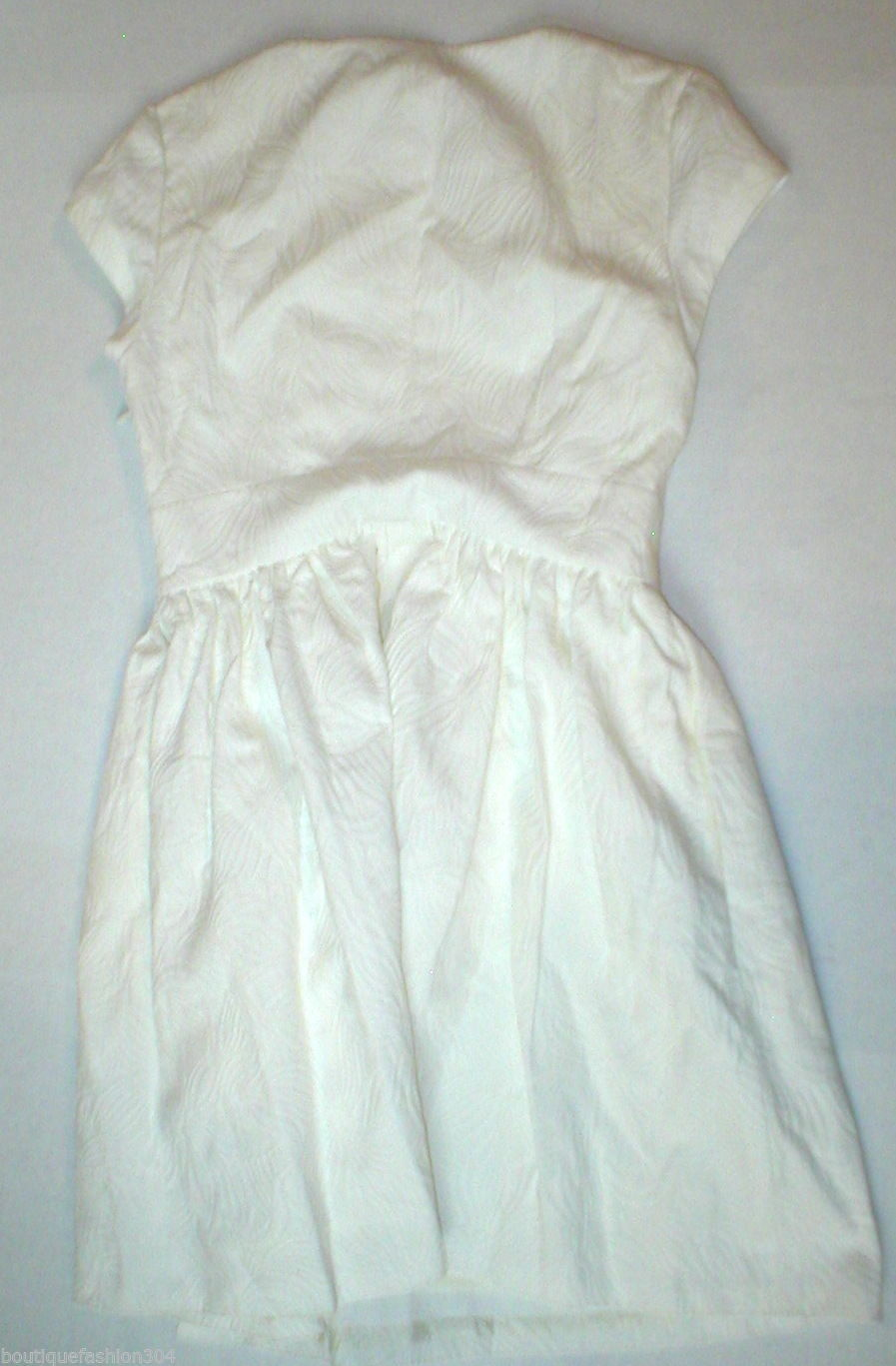 New Juicy Couture Dress Short Womens 4 NWT $198 Off White Floral Brocade Textur image 3