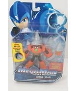 Mega Man Fully Charged DRILL MAN Deluxe Series Figure Rare HTF cartoon n... - $18.76