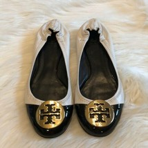 Women's Tory Burch Black  White Reva Flats sz 8 - $95.67