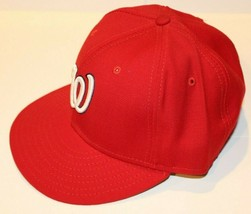 NWT MLB Washington Nationals New Era 59FIFTY Fitted Red Baseball Hat Siz... - $39.99