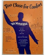 VTG Old Sheet Music Too Close For Comfort Mr. Wonderful Musical Comedy L... - $11.75