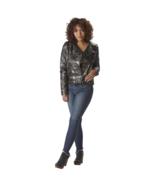 Rocawear Women's Fleece-Lined Faux-Leather Motorcycle Jacket Camo S #NPC... - $24.89
