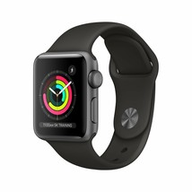 AppleWatch Series3 (GPS 38mm) - Space Gray Aluminum Case with Black Sport... - $252.93