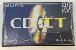 New Sony CD IT Cassette Tape 90 Minute High Bias Type II Cr02 Slim Case ... - $4.94