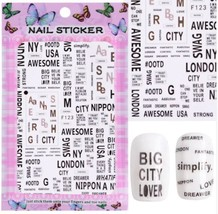 "HS Store - 1 pcs ""F-123"" 3D Sweet Beauty Flower Sticker Nail Art Decal Nail - $2.62"