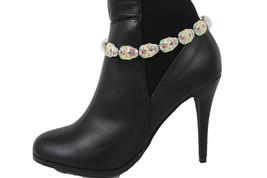 Moda Donna Stivali Braccialetto Argento Catena di Metallo Cavigliera Scarpe - $27.39