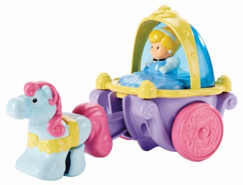 Fisher Price Little People Disney Princess - Klip Klop Cinderella Coach Vehicle