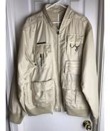 Sean John Khaki Jacket -Size XL-windbreaker- Coat Lightweight -Pockets - $29.69