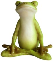 Top Collection Miniature Fairy Garden and Terrarium Yoga Frog Meditation... - $12.17