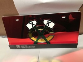 NHL Chicago Blackhawks Laser License Plate Tag - Red - $29.39