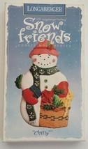 1997 Longaberger Pottery Snowman Chilly Snow Fr... - $11.83