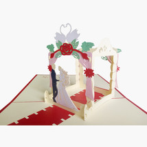Wedding House--3D Wedding Card, 3D Greeting Card, Pop Up Card, Pop Out Card - $6.59
