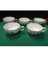 OLD JAPAN Movie Theater Give-Aways..White Rose design Set of 5 CUPS - $12.46