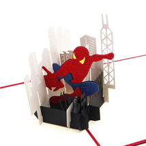 Spider Man--3D Greeting Card, Pop Up Card, Pop Out Card - $5.40