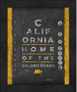 "Cal-Berkley Golden Bears 13x16 College ""Chalkboard Look Eye Chart"" Frame... - $39.95"