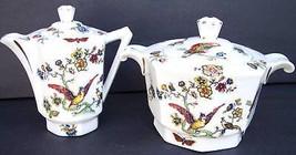 Vintage Limoges France Sugar & Creamer Hand pai... - $66.93