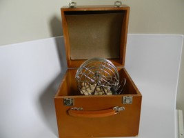 Vintage 75-Ball Bingo Game with Metal Tumbler Cage in Wood Case - $49.99