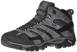 Merrell Men's Moab 2 Mid Waterproof Hiking Boot, Granite, 9 2E US - $113.84