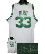 Larry Bird signed Boston Celtics Green White Adidas Swingman Jersey- Bir... - $288.95