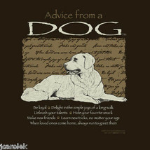 Dog Sweatshirt Advice From a Dog S M NWT Fun Quality New Brown - $25.25