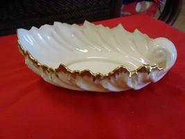 Magnificent Vintage LENOX  Leaf Design SERVING Bowl-Dish...FREE POSTAGE USA - $24.34