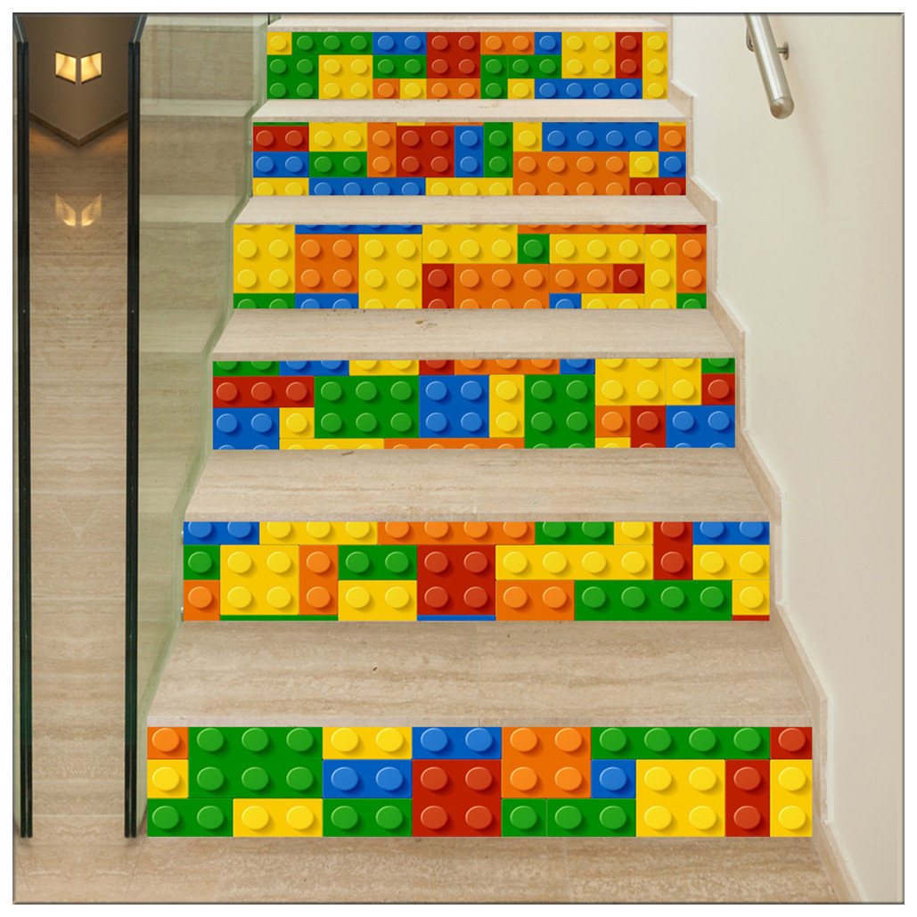 Primary image for DIY Steps Sticker Removable Stair Sticker Mural Wrap002 Building Blocks