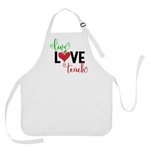 Live, Love, Teach Apron, Gift for Teachers, Teacher Apron, Teacher Gift ... - $23.71 CAD