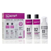 Reactiv8 Thinning Hair + Scalp Care System, 3 Piece Kit (Color-Treated Hair)