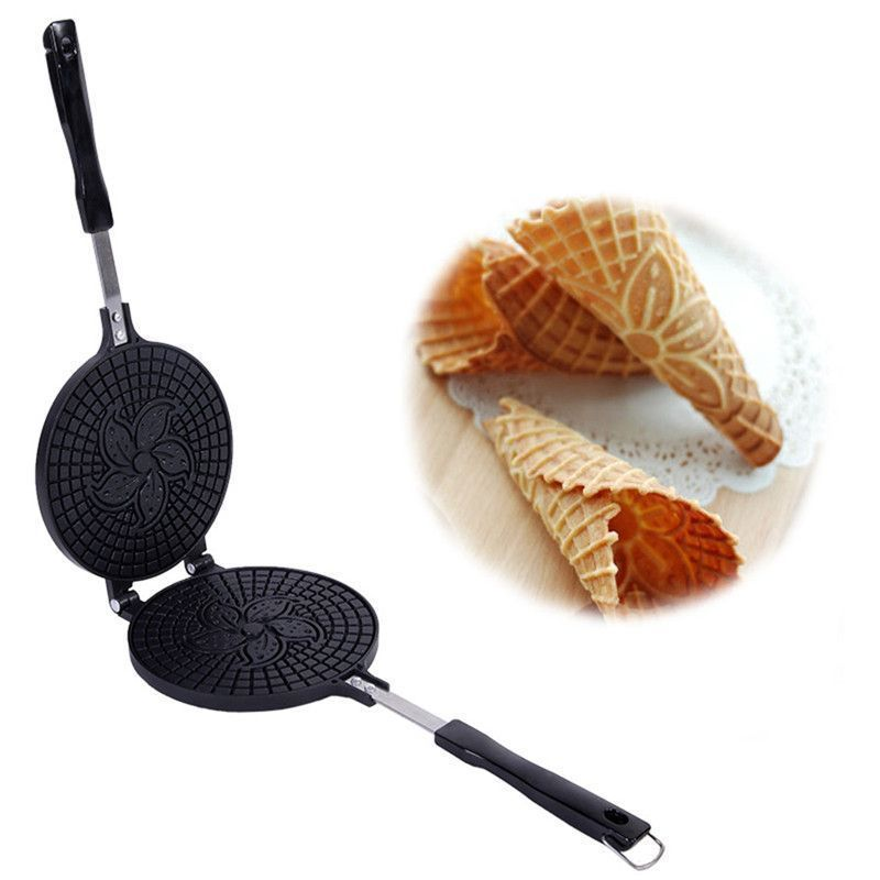 Primary image for Non Stick Omelet Waffles Maker Aluminum Alloy Metal Adjustable Thermostat Type