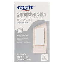 Equate Sensitive Skin XL Flexible Fabric Bandages 8 Ct