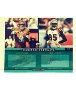 Upper Deck 2005 NFL Carson Palmer Chad Johnson Autographed Portraits Ben... - $59.99