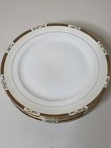 """6 Noritake Morimune Dinner Plates 10"""" Handpainted Gold Lattice Antique 1920-1940 - $47.52"""