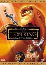 Disney Lion King (DVD, 2003, 2-Disc Set, Platinum Edition)