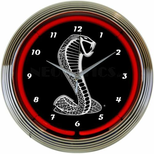 "Primary image for Ford Snake Neon 15"" Diameter Wall Mount Neon Clock Approved by Ford"