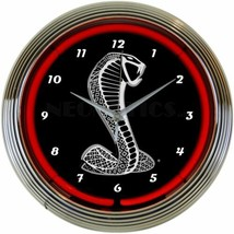 "Ford Snake Neon 15"" Diameter Wall Mount Neon Clock Approved by Ford - $69.00"