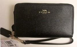 COACH 57467 ~ Crossgrain DOUBLE ZIP PHONE WALLE... - $73.95