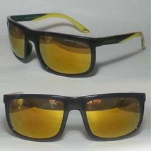 Armani Exchange AX 4084S Sunglasses Mirrored Gold Lens Black Rim Rectang... - $48.45