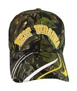 West Virginia Men's Striped Bill Adjustable Baseball Cap (Camouflage) - $11.95