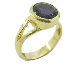 grand Amethyst CZ Gold Plated Purple Ring genuine generally US gift - $24.99