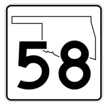 Oklahoma State Highway 58 Sticker Decal R5598 Highway Route Sign - $1.45+