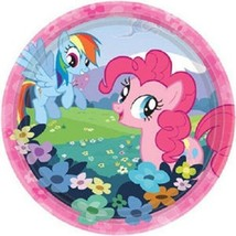 "My Little Pony Birthday Friendship Party 7"" Dessert 8 Ct Plates - $4.19"